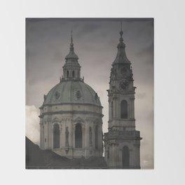 St. Nicholas Church Prague Throw Blanket