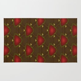 Red Triangle Flower pattern Rug
