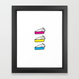 3 Pies - CMYK/White Framed Art Print