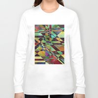 the fault Long Sleeve T-shirts featuring Fault Lines by Klara Acel