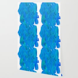 Blue Paint Abstract Wallpaper