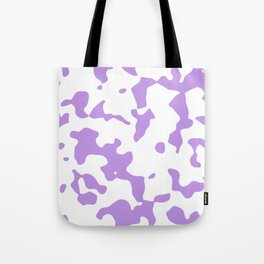 Large Spots - White and Light Violet Tote Bag
