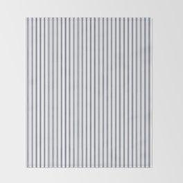 Dark Sargasso Blue Mattress Ticking Narrow Striped Pattern - Fall Fashion 2018 Throw Blanket