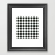 Buffalo Check in black Framed Art Print