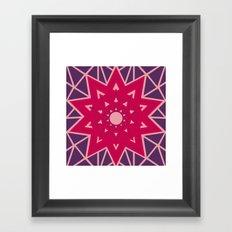 Geometric Star Mandala Framed Art Print