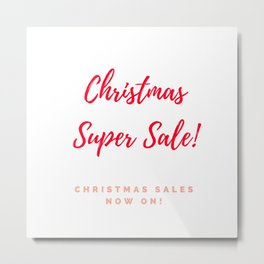Christmas Super sale : red and white Metal Print