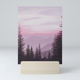 Magenta Mountain Sunrise Mini Art Print