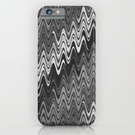 WAVY #2 (Grays) iPhone Case