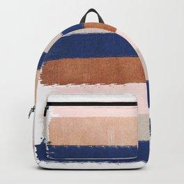 Stripes abstract minimalist painting bronze copper gold metallic stripe pattern decor nursery Backpack