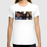 forrest gump T-shirts featuring POSSESSED REGAN IN FORREST GUMP by Luigi Tarini