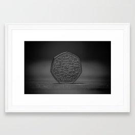 50Pence Framed Art Print