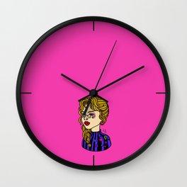 Lollipop Girl Pink Wall Clock
