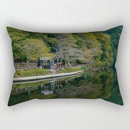 Arashiyama Waterscape Rectangular Pillow
