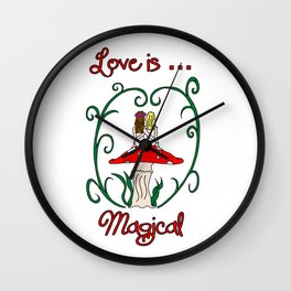 Love Is Magical Wall Clock
