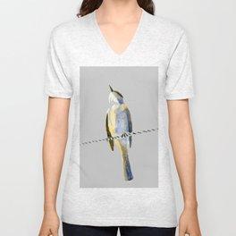 bird on a wire Unisex V-Neck
