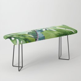 Tropical Jungle Leaves Bench