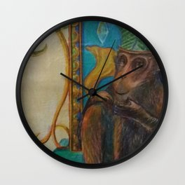 King of Monkey Wall Clock