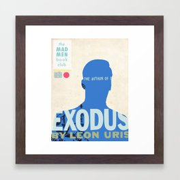 Mad Men Book Club-Exodus Framed Art Print