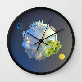 Tiny planet Wall Clock