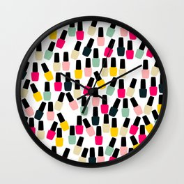 Cute Nail Polish Wall Clock