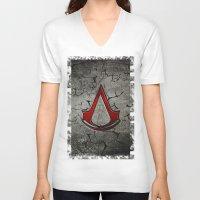 assassins creed V-neck T-shirts featuring Creed Assassins Logo by Andrian Kembara