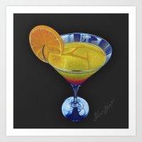 Sunset Martini Art Print