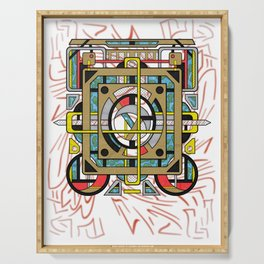 Switchplate - Surreal Geometric Abstract Expressionism Serving Tray