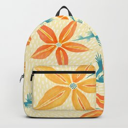 Vintage Hawaiian Print Backpack
