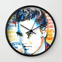 elvis Wall Clocks featuring Elvis by Phil Fung