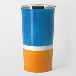 Colorful Jewel Tones Blue Gold Color Block Minimalist Watercolor Art Modern Simple Shapes Travel Mug