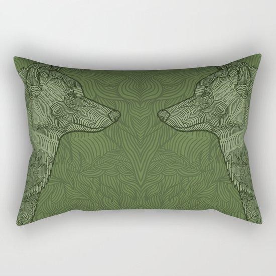 Enthusiastic Wolf Rectangular Pillow