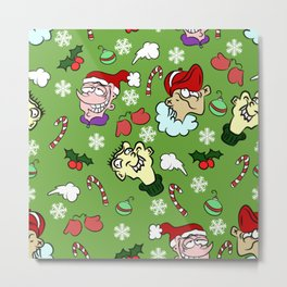 Christmas With the Ed's Pattern Metal Print