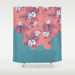 Tropical Fluo Tiles #society6 #decor #buyart Shower Curtain