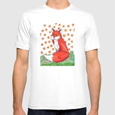 Phone or Fox MEDIUM White Mens Fitted Tee