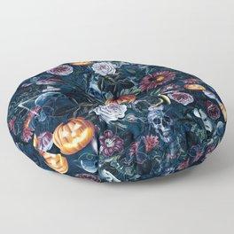 Halloween pumpkin forest Floor Pillow