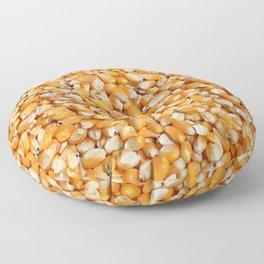 corn cereals yellow background pattern Floor Pillow