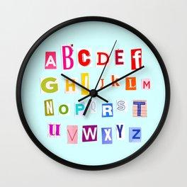 ABC Rainbow Wall Clock