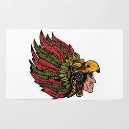 Indian Chieftain Head Illustration Rug