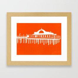 Seaside Pier in Orange Framed Art Print