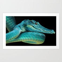 Snakodrile / Culedrilo Art Print