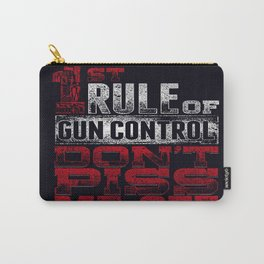 1st rule gun control Carry-All Pouch