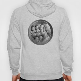 Defender, Martyr, Father -- Grant, Lincoln, And Washington Hoody