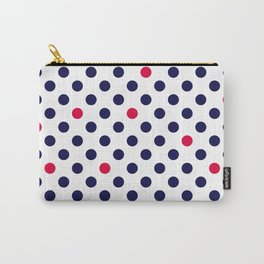 Red blue polka dot Carry-All Pouch