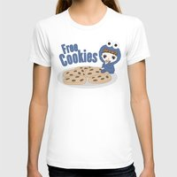 cookies T-shirts featuring Free Cookies by Lily
