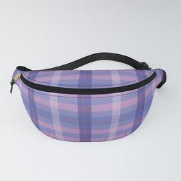 Purple Plaid Fanny Pack