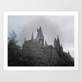Castle Embossing Art Print
