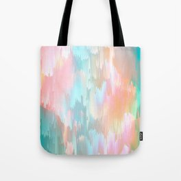 Candy Rainbow Glitch Fall #abstractart Tote Bag