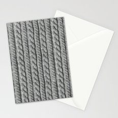 Grey Knit feeling Stationery Cards