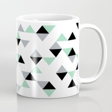 Triangles Mint Grey Mug