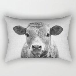 Cow 2 - Black & White Rectangular Pillow